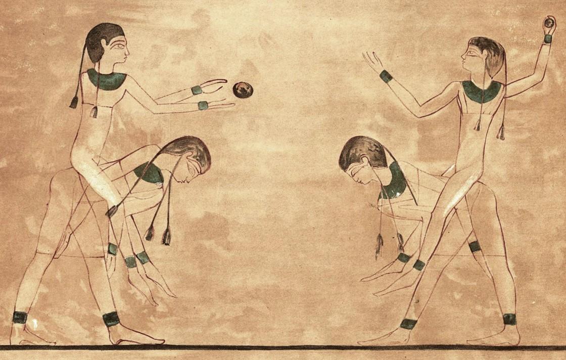De Egyptenaren speelden ook al een spel dat erg leek op het leuke zomerspel kubb, maar of zij het hebben uitgevonden?